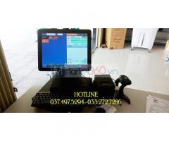 Bộ máy tính tiền cảm ứng bằng mã vạch cho Siêu thị mini tại Hà Tĩnh