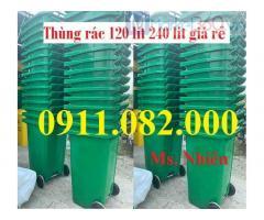 Bán thùng rác giá rẻ tại cần thơ- thùng rác 120 lít 240 lít 660 lít, thùng rác 3 ngăn giá sỉ-