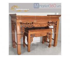 Mẫu bàn thờ gia tiên đẹp với thiết kế chạm trổ tinh xảo quận 10
