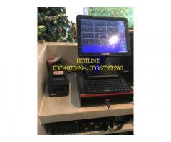 Trọn bộ máy tính tiền cảm ứng cho quán Trà sữa- Coffee tại Lâm Đồng
