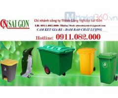 Cần bán thùng rác 240 lít giá rẻ tại hậu giang- thùng rác 2 ngăn, 3 ngăn giá tốt-