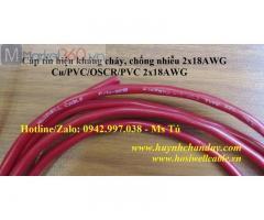 Cáp tín hiệu 2x18AWG (9018), kháng cháy, chống nhiễu - Hosiwell Cable