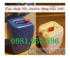 Can có seal chống tràn, can nhựa HDPE đựng hóa chất, can 30L