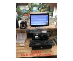 Máy tính tiền cảm ứng trọn bộ 2 màn hình cho Quán Cà phê- Trà sữa ở Hà Nội