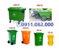 Thùng rác 120 lít giá sỉ- hạ giá thùng rác 120 lít tại tiền giang -
