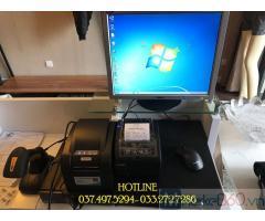 Máy tính tiền trọn bộ bằng mã vạch cho Shop quần áo tại Khánh Hòa