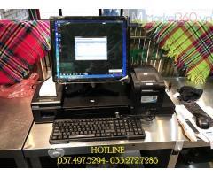 Lắp đặt máy tính tiền cảm ứng cho Tiệm trà chanh tại Ninh Bình