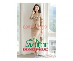 Xưởng may áo vest nữ đồng phục theo size chuẩn không cần chỉnh