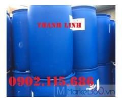 Thùng phuy nhựa 200L nắp kín, thùng phuy nhựa 200L cũ, thùng phuy nhựa 200L mới, thùng phuy 200L 2 nắp nhỏ.