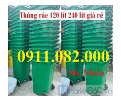 Bán thùng rác 120L 240L giá tốt- thùng rác inox 2 ngăn, 3 ngăn-