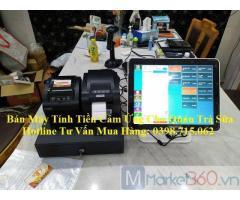 Trọn bộ máy tính tiền cảm ứng giá rẻ cho quán trà chanh, trà sữa tại Tiền Giang