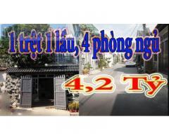 Nhà 1 Trệt 1 Lầu Xuân Thới Sơn Hóc Môn 4,2 Tỷ | Nhà Hóc Môn 2021