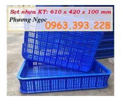 Sọt nhựa rỗng HS010, sóng nhựa siêu thị, sọt nhựa 1T, thùng rỗng HS010
