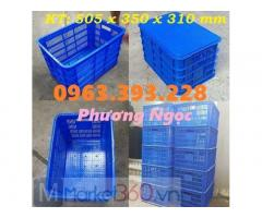 Sọt nhựa rỗng đáy đặc, sóng nhựa HS012, sọt hở đáy đặc, sọt HS012