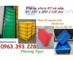 Thùng nhựa đặc B7, hộp nhựa có nắp, sóng nhựa bít B7, khay nhựa có nắp