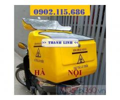 Thùng chở chất thải y tế nguy hại trên xe máy