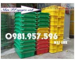 Thùng nhựa dung tích 50L, thùng đặc có nắp, sóng nhựa đặc