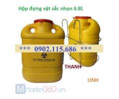 Hộp an toàn, hộp đựng vật sắc nhọn y tế, hộp đựng bơm kim tiêm, tại Hà Nội.