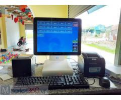 Combo máy tính tiền cảm ứng cho quán Trà chanh tại Phú Thọ