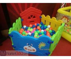 Chuyên nhà banh nhựa trong nhà dành cho trẻ nhỏ mầm non