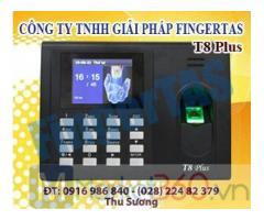 Phân phối máy chấm công vân tay T8PLUS có pin lưu điện hàng chính hãng