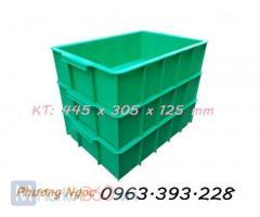 Thùng nhựa đặc 445 x 305 x 125 mm, thùng nhựa công nghiệp, khay đựng linh kiện