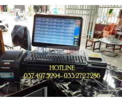 Trọn bộ máy tính tiền cảm ứng cho Tiệm trà chanh tại Quảng Ninh