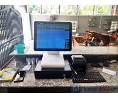 Lắp đặt máy tính tiền cảm ứng cho Quán Cà phê- Trà sữa tại Hà Giang