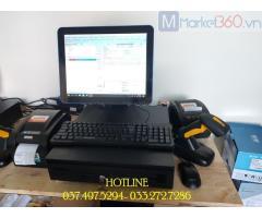 Trọn bộ máy tính tiền bằng mã vạch cho Siêu thị mini tại Đà Nẵng