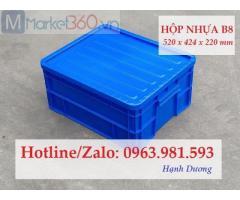 Hộp nhựa B8, thùng nhựa đặc B8, sóng nhựa bít