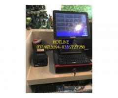 Trọn bộ máy tính tiền cảm ứng cho quán Trà sữa- Coffee ở Nghệ An