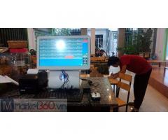 Lắp đặt bộ máy tính tiền cảm ứng cho quán Trà sữa tại Lâm Đồng