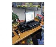 Lắp đặt bộ máy tính tiền bằng mã vạch cho Siêu thị tiện lợi tại Thái Bình