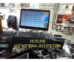Bộ máy tính tiền cảm ứng 1 màn hình cho quán Trà chanh tại Thái Bình