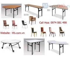 Bàn tròn gấp chân, bàn IBM, bàn ghế hội nghị nhà hàng