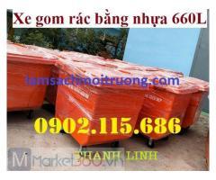 Xe thu gom rác 660L – lựa chọn hoàn hảo bảo vệ môi trường đô thị
