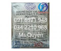 MgCl2 96% dạng vảy Ấn Độ, khoáng tạt magie tôm cá giá sỉ tại kho, giá cont