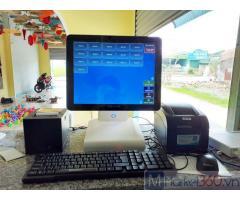 Lắp đặt máy tính tiền cảm ứng cho Tiệm trà chanh tại Tây Ninh