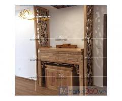 Bộ bàn thờ gỗ gia tiên đơn giản hiện đại giá rẻ tại TPHCM