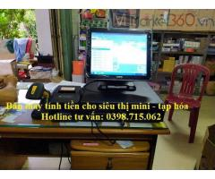 Cung cấp máy tính tiền cảm ứng cho cửa hàng tạp hóa giá rẻ tại Bạc Liêu