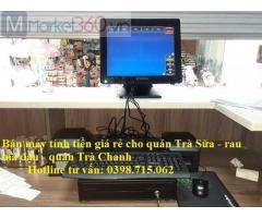 Bán máy tính tiền cảm ứng cho quán trà sữa giá rẻ tại Bạc Liêu