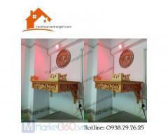 Hình ảnh bàn thờ treo tường đẹp giá rẻ tại quận 12