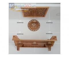 Mẫu bàn thờ treo tường chung cư hiện đại giá rẻ đẹp mắt Quận 3