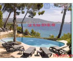 Ghế tắm nắng Grosfillex, ghế bể bơi hồ bơi nhập Pháp chuyên dụng