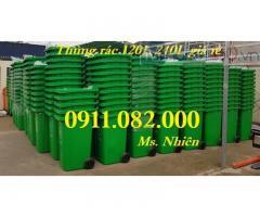 Thùng rác 120L 240L giá rẻ tại đồng tháp, thùng rác công nghiệp 660 lít-