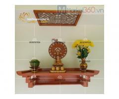 Thiết kế bàn thờ treo tường đa dạng mẫu đơn giản đẹp mắt TPHCM