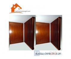 Vách ngăn trang trí nội thất-vách ngăn gỗ công nghiệp