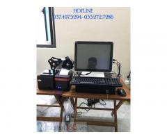 Trọn bộ máy tính tiền cảm ứng cho Quán nước mát- Rau má tại Long An