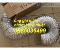 Ống nhôm nhún,ống gió nhôm sun bạc chịu nhiệt phi 100, phi 125, phi 150, phi 200