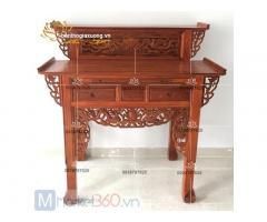 Bộ bàn thờ gia tiên gỗ đẹp cùng đa dạng các mẫu giá rẻ Quận 12
